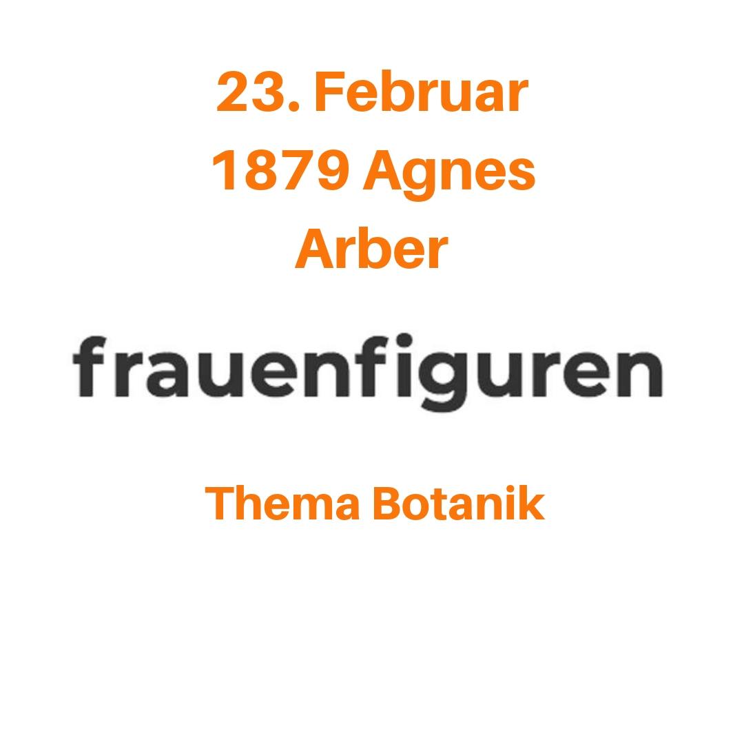 08/2019 Agnes Arber