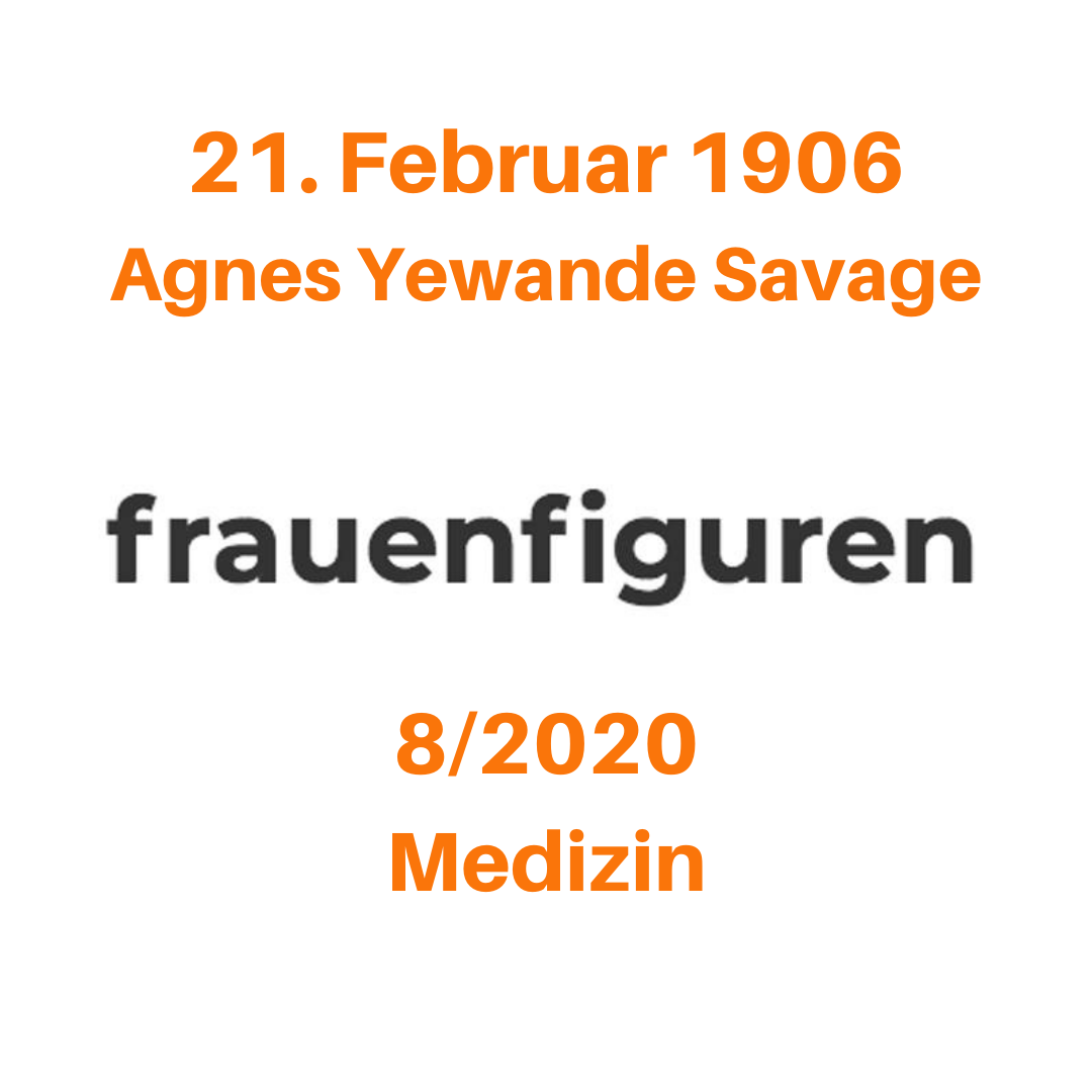8 2020 frauenfiguren agnes yewande savage