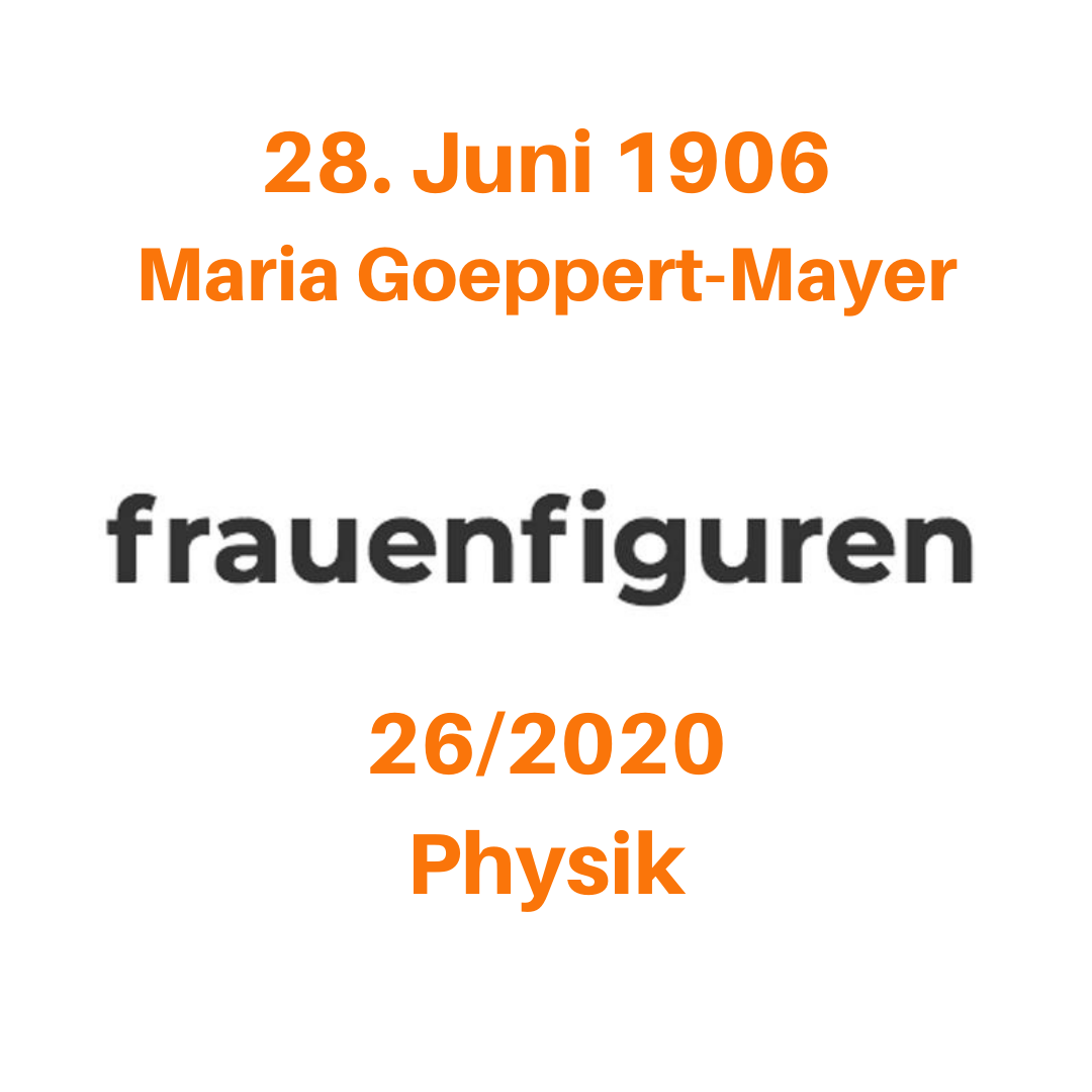 frauenfiguren maria goeppert-mayer