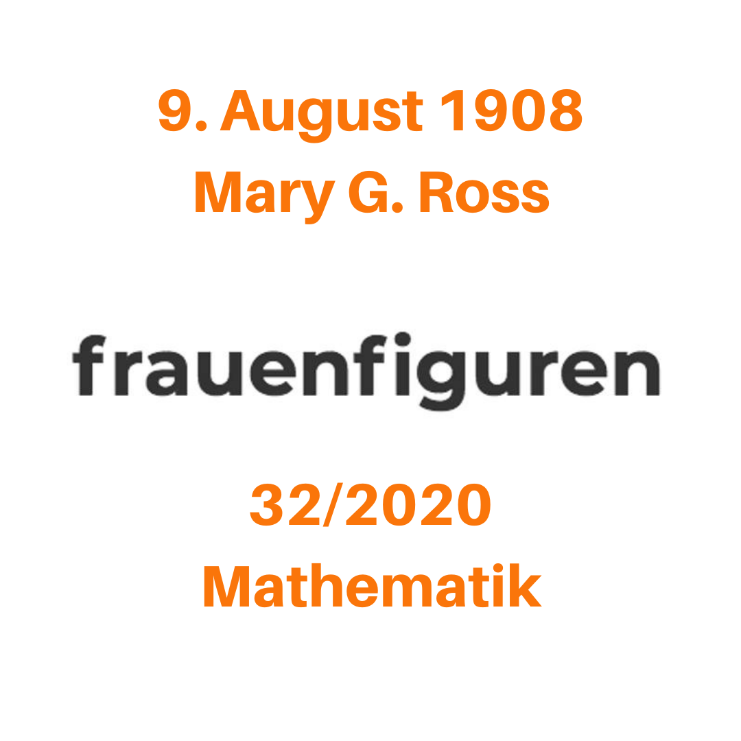 frauenfiguren mary g. ross