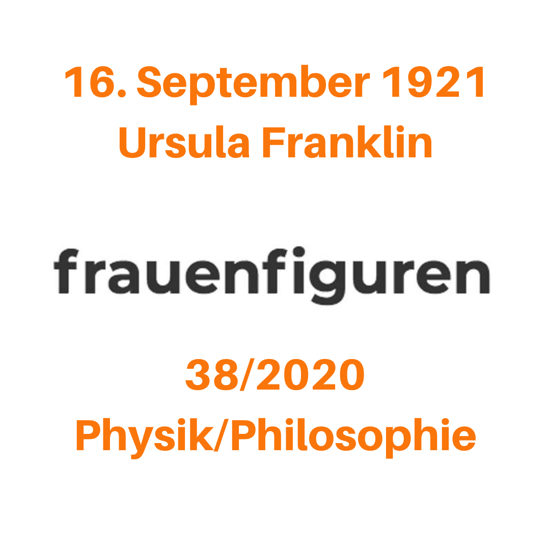 frauenfiguren ursula franklin