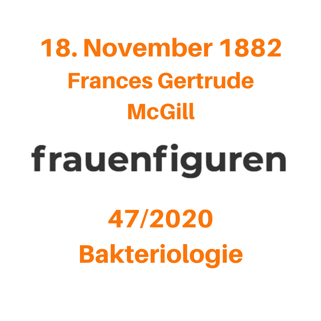 frauenfiguren frances gertrude mcgill